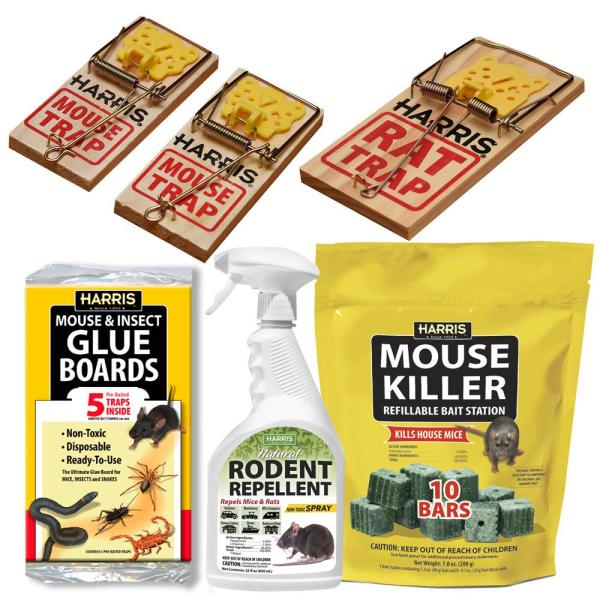 Rat and Mouse Bait Trap Repel and Prevention Kit