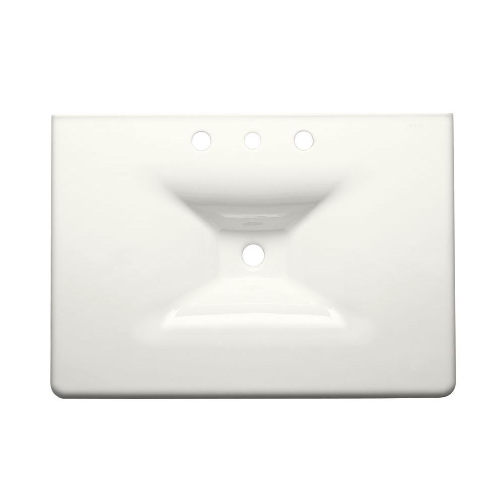 KOHLER Iron/Impressions 31-5/8 in. Top-Mount Sink Basin in White