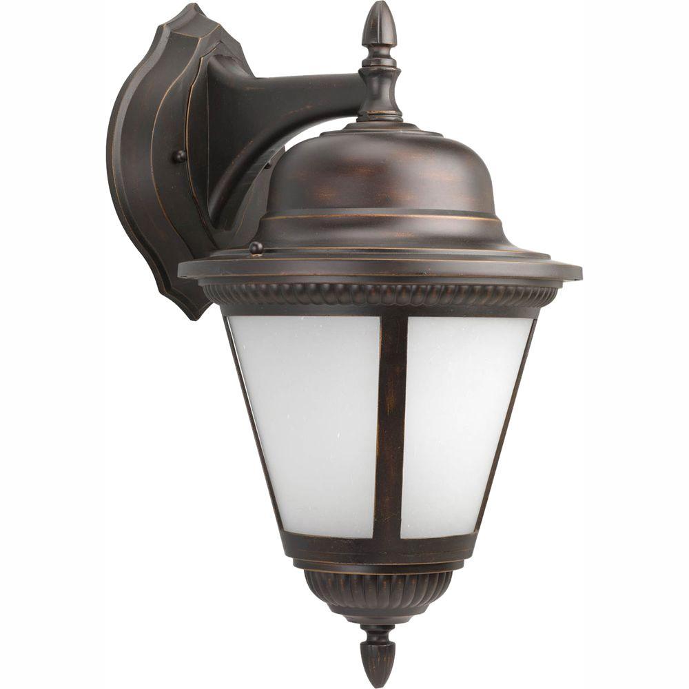 Westport Collection 1-Light 18.75 in. Outdoor Antique Bronze Wall Lantern Sconce