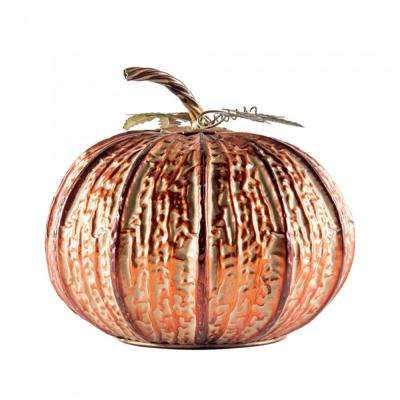 12 in. Large Copper Pumpkin