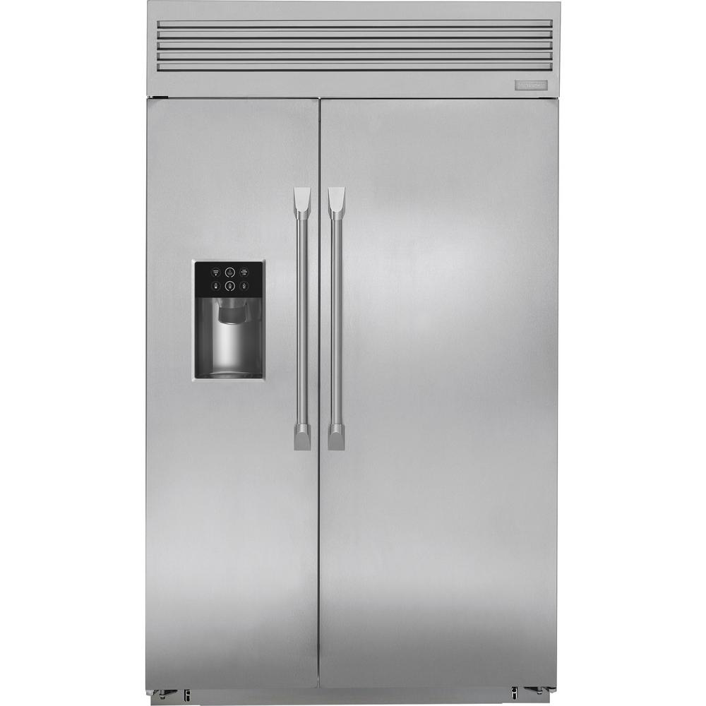 Ge Monogram 28 8 Cu Ft 48 In W Built Professional Side