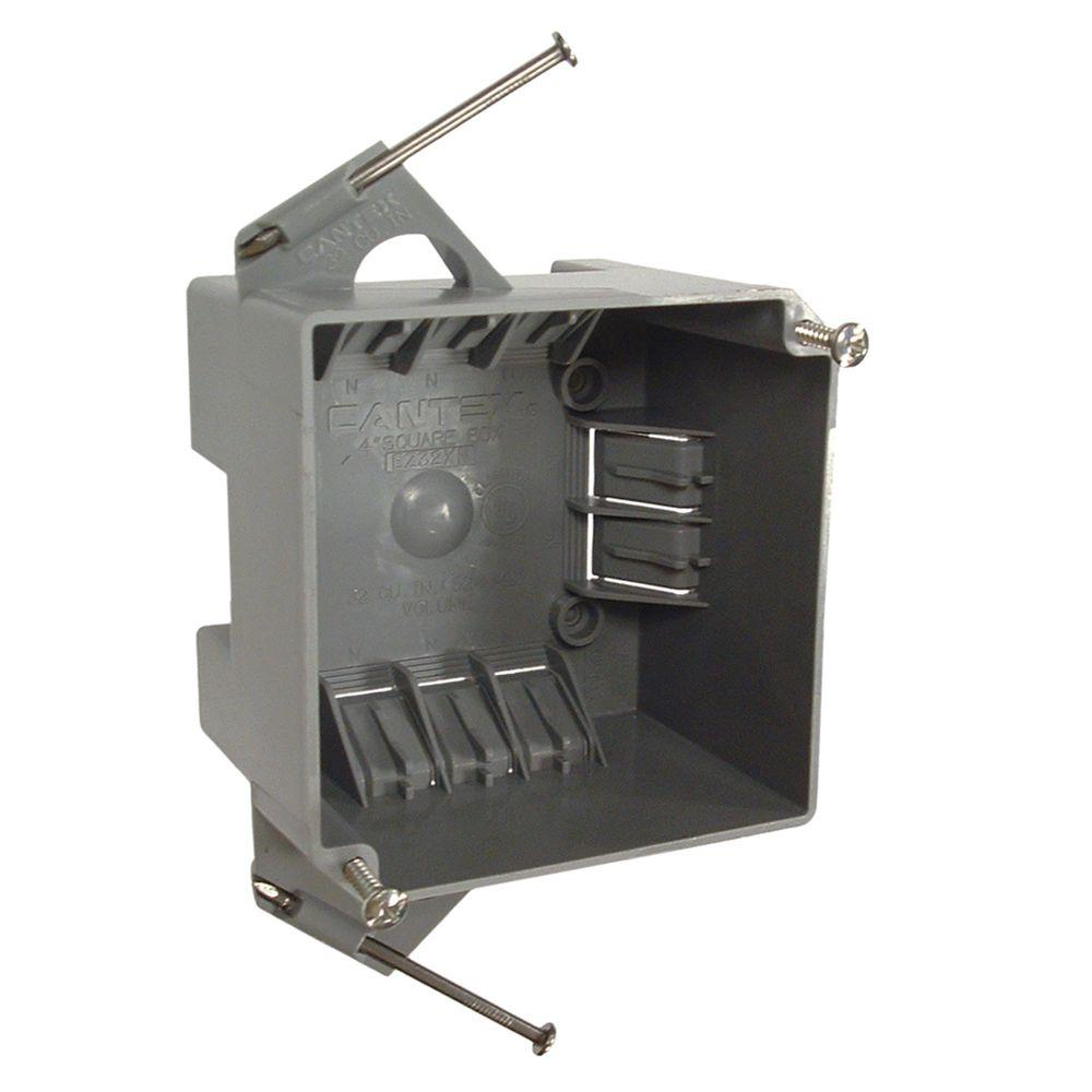 RACO 4 in. Square Non-Metallic Cable Box, 2-5/8 in. Deep (8-Pack ...