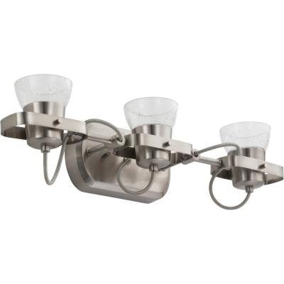 LTFSGL3 22 in. 3-Light Brushed Nickel White Integrated LED Track Lighting Kit