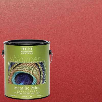 1 gal. Sashay Red Metallic Interior/Exterior Paint
