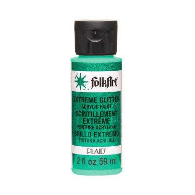 2 oz. Aqua Extreme Glitter Craft Paint