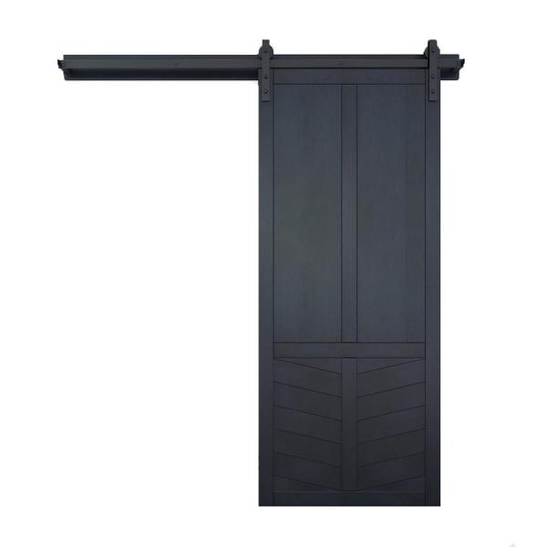 42 in. x 84 in. The Robinhood Admiral Wood Sliding Barn Door with Hardware Kit