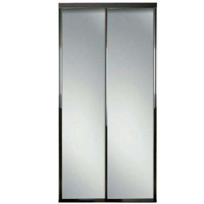 60 in. x 81 in. Concord Bronze Mirrored Aluminum Frame Interior Sliding Door