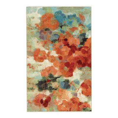 Colorful Garden Multi 5 ft. x 8 ft. Indoor/Outdoor Area Rug