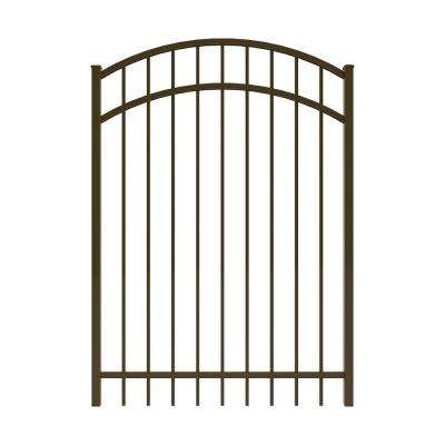 Vinings 4 ft. W x 5 ft. H Bronze Aluminum Arched Pre-Assembled Fence Gate