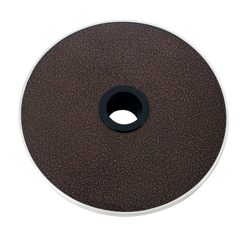16 in. Bronze Adjustable Patio Heater Table