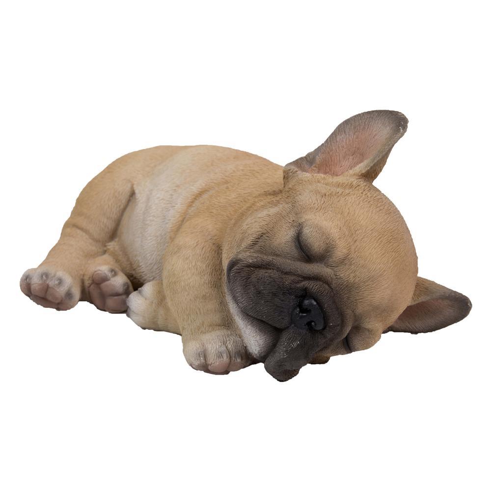 Hi Line Gift French Bulldog Puppy Sleeping On Side Statue