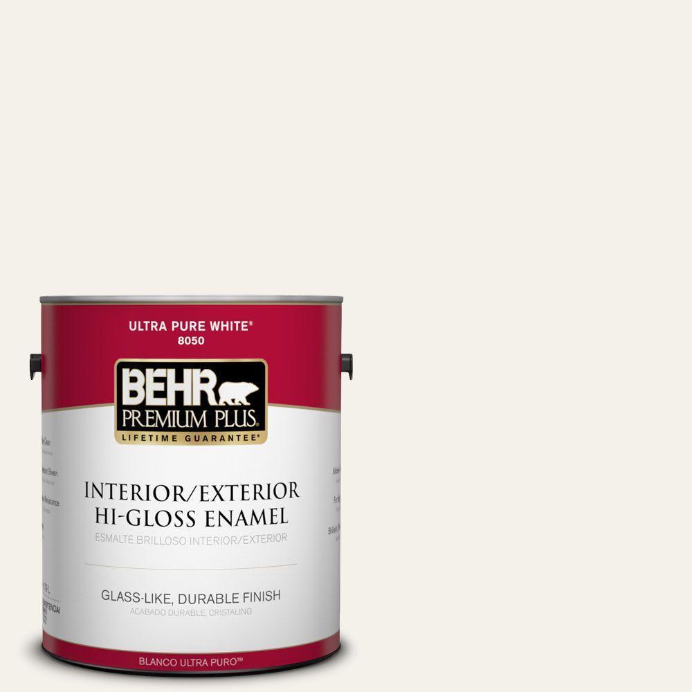 1 gal. #T16-17 Ivory Keys Hi-Gloss Interior/Exterior Enamel Paint
