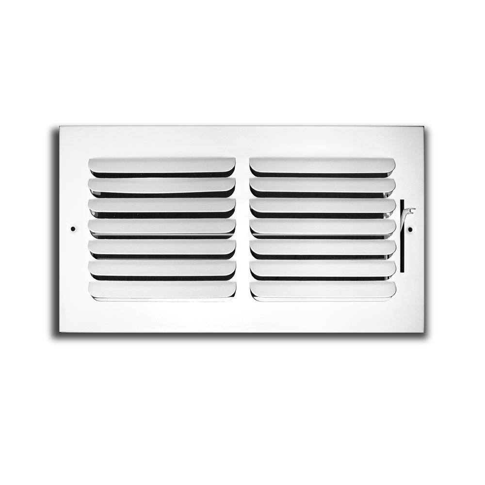 TruAire 12 in. x 6 in. x 1 Way Fixed Curved Blade Wall/Ceiling ...