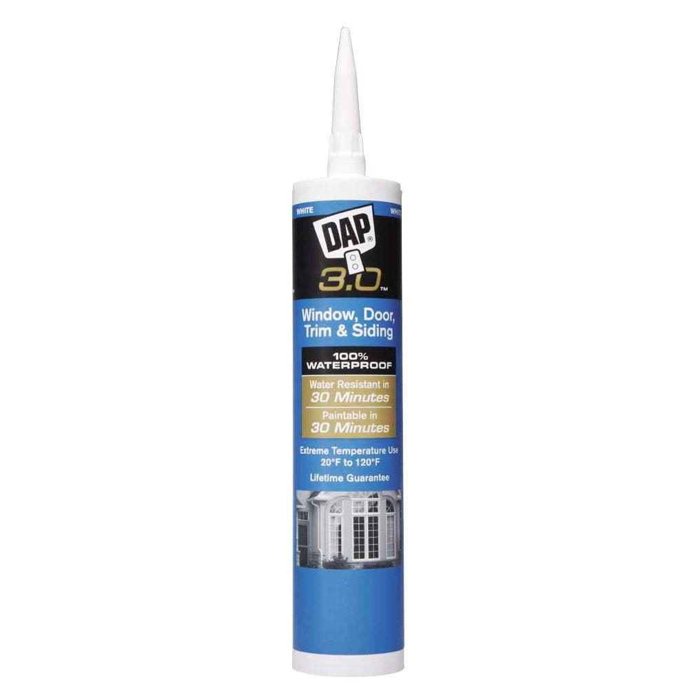 DAP 3.0 9 oz. White Advanced Window, Door, Trim and Siding Sealant