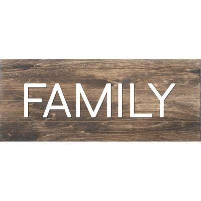 Family Horizontal Slat Board, BROWN/WHITE LETTERS, Memo Board
