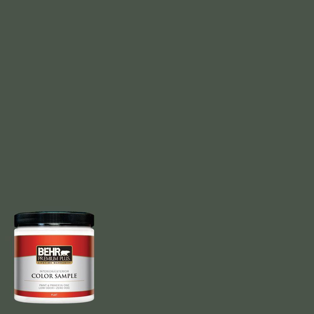 BEHR Premium Plus 8 oz. #PMD-66 Deep Evergreen Interior/Exterior Paint Sample