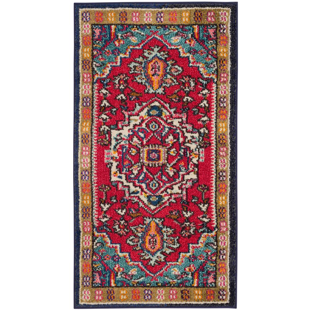 Safavieh Monaco Red/Turquoise 3 Ft. X 5 Ft. Area Rug