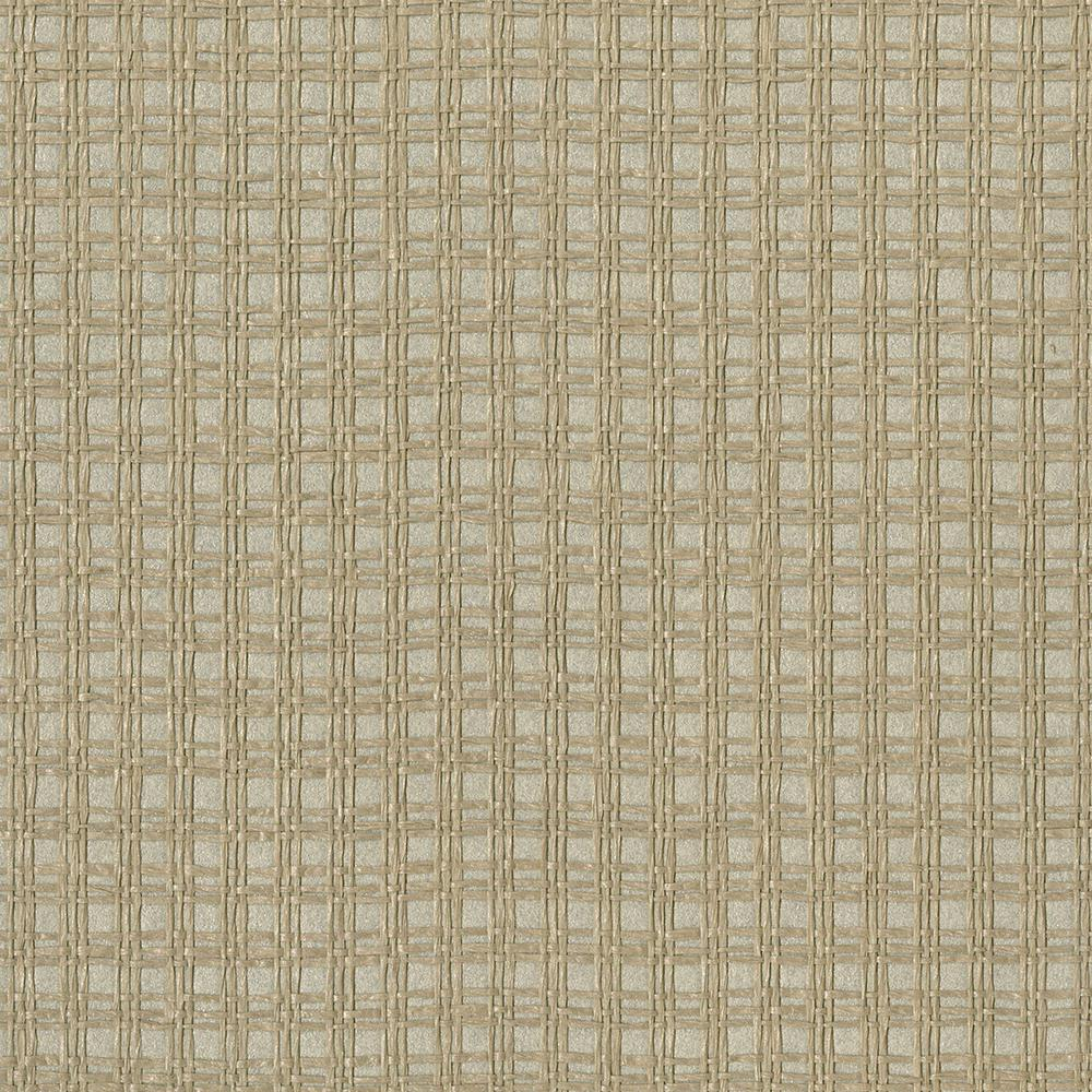 Kori Khaki Grasscloth Wallpaper