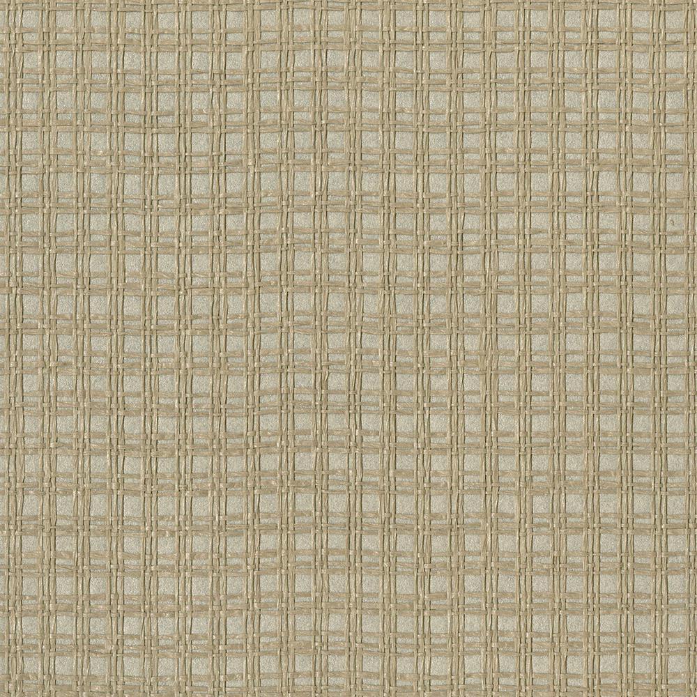 Kenneth James Kori Khaki Grasscloth Wallpaper Sample 2693-30240SAM