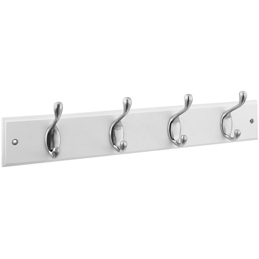 Stanley-National Hardware 18 in. Hook Rail in Satin Nickel