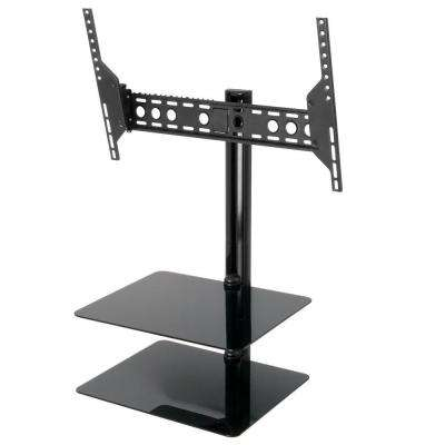 Tilt and Turn TV Mount with AV Shelving for 37-60 in. Screens for Flat Panel TVs and AV Components