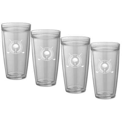 Kasualware Golf 22 oz. Doublewall Tall Tumbler (Set of 4)