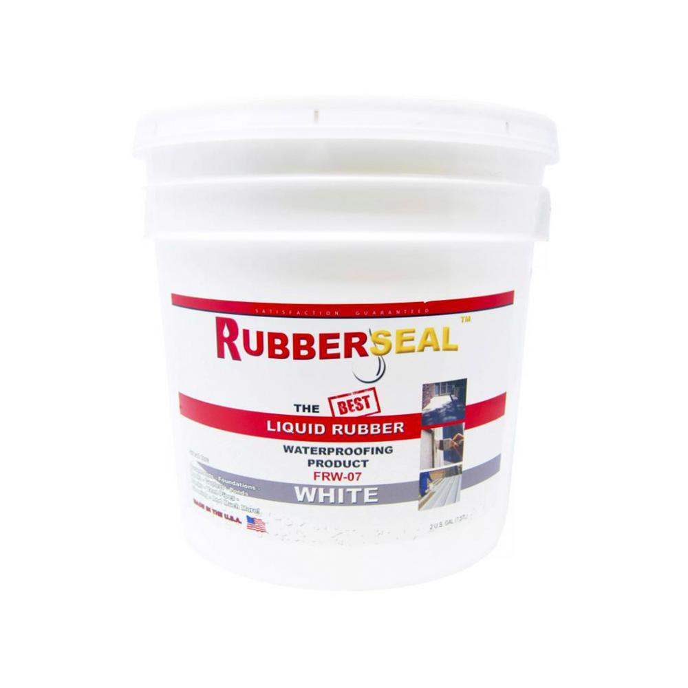 Rubberseal 2 Gal  White Liquid Rubber