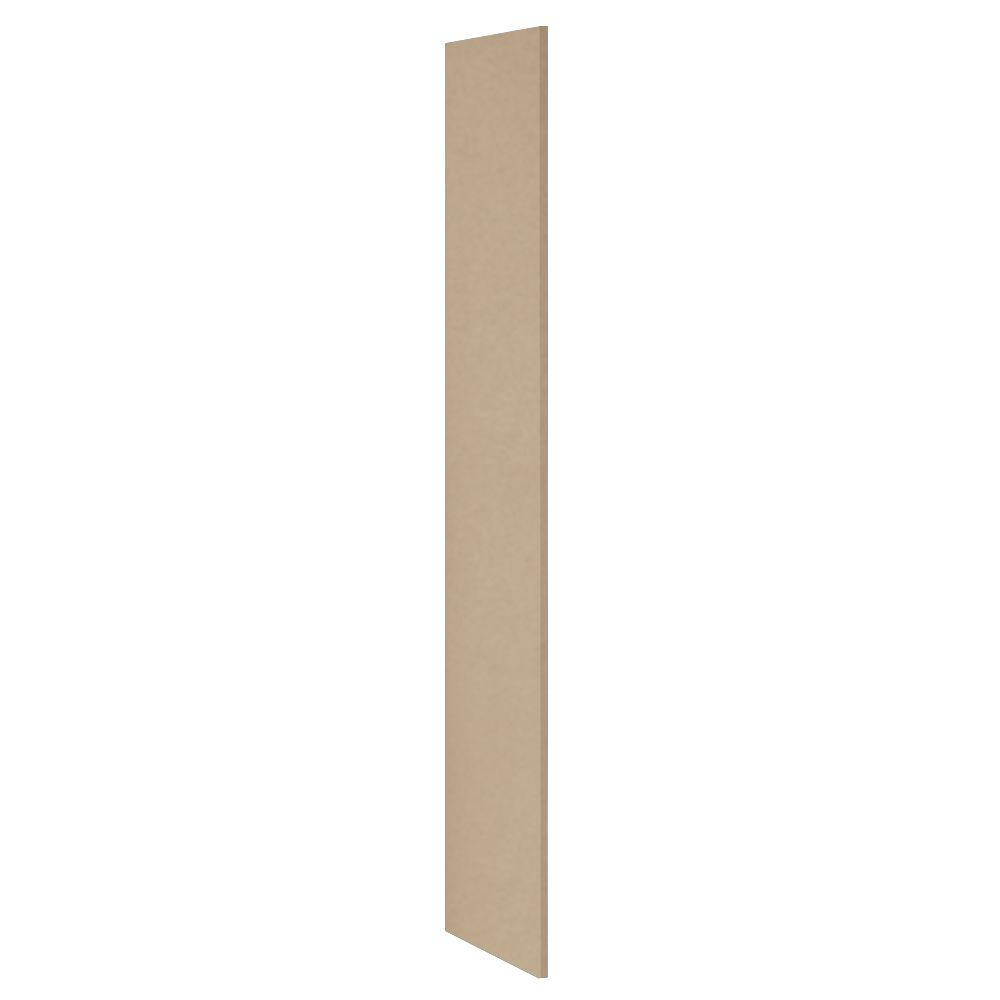 Salsbury Industries Heavy Duty Plastic Side Panel without Sloping Hood for Heavy Duty Plastic Locker in Tan