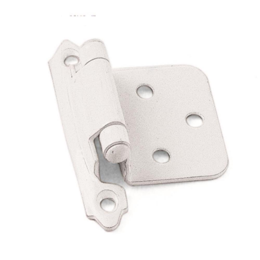 White Self-Closing Overlay Cabinet Hinge (1-Pair)