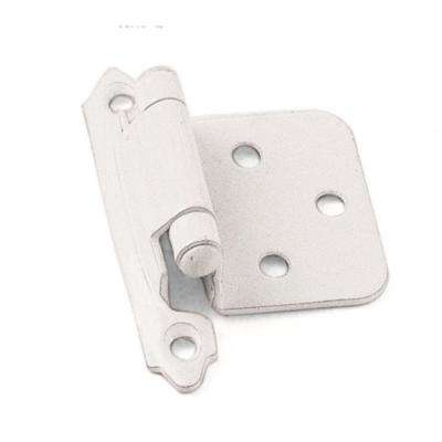 White Self-Closing Overlay Cabinet Hinge (1-Pair)