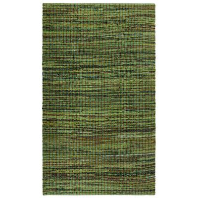 Green Cotton 2 ft. 6 in. x 4 ft. 2 in. Accent Rug