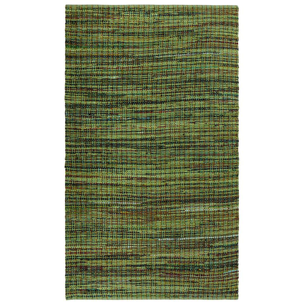 Green Cotton 2 ft. x 5 ft. Rag Runner