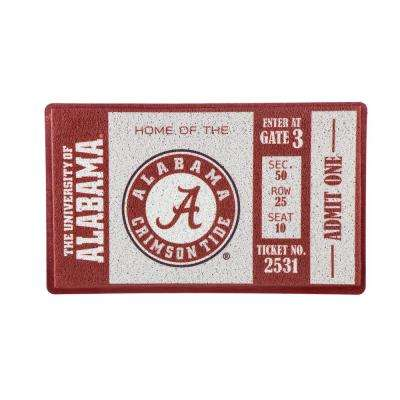 University of Alabama 30 in. x 18 in. Vinyl Indoor/Outdoor Turf Floor Mat