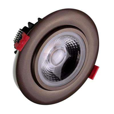 4 in. Oil-Rubbed Bronze 3000K Remodel IC-Rated Recessed Integrated LED Gimbal Downlight Kit