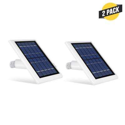 Solar Panel Compatible with Ring Spotlight Cam Battery and Ring Stick Up Cam Battery (2 Pack, White)