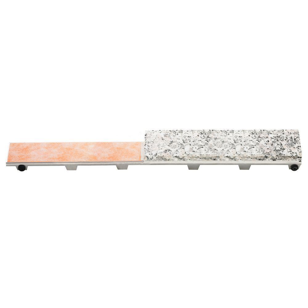 schluter kerdi line frameless tileable 40 in metal drain. Black Bedroom Furniture Sets. Home Design Ideas