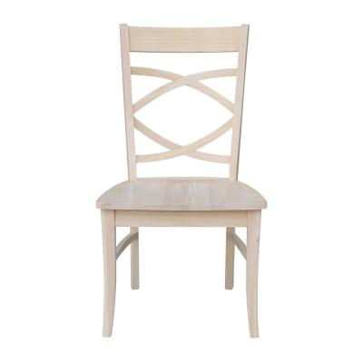 Milano Unfinished Wood Side Chair (Set of 2)