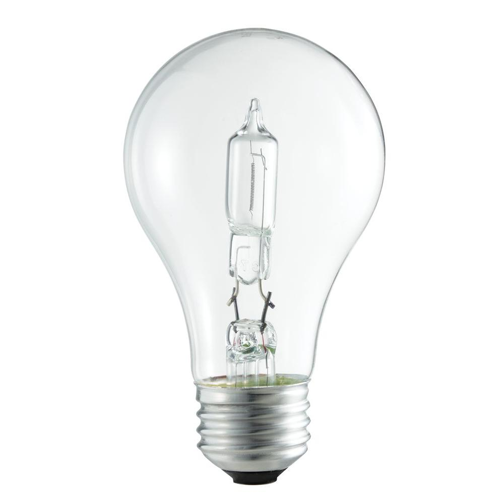Philips 100w equivalent incandescent a19 clear light bulb 24 pack 429241 the home depot Light bulb lamps