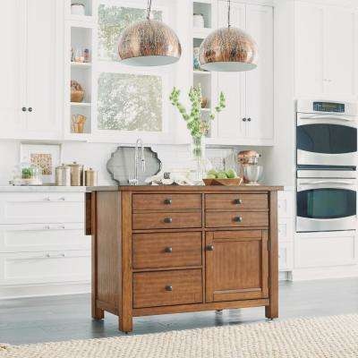 Tahoe Aged Maple Kitchen Island with Wood Top