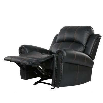 Gavin Black PU Leather Gliding Recliner
