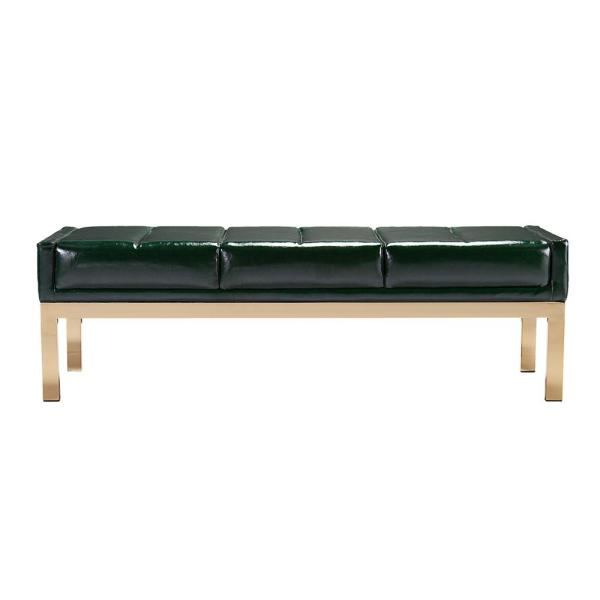 Southern Enterprises Cressida Green Mid Century Modern Decorative Bench