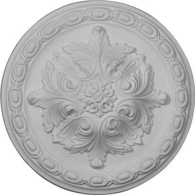11-3/8 in. OD x 2 in. P Acanthus Ceiling Medallion