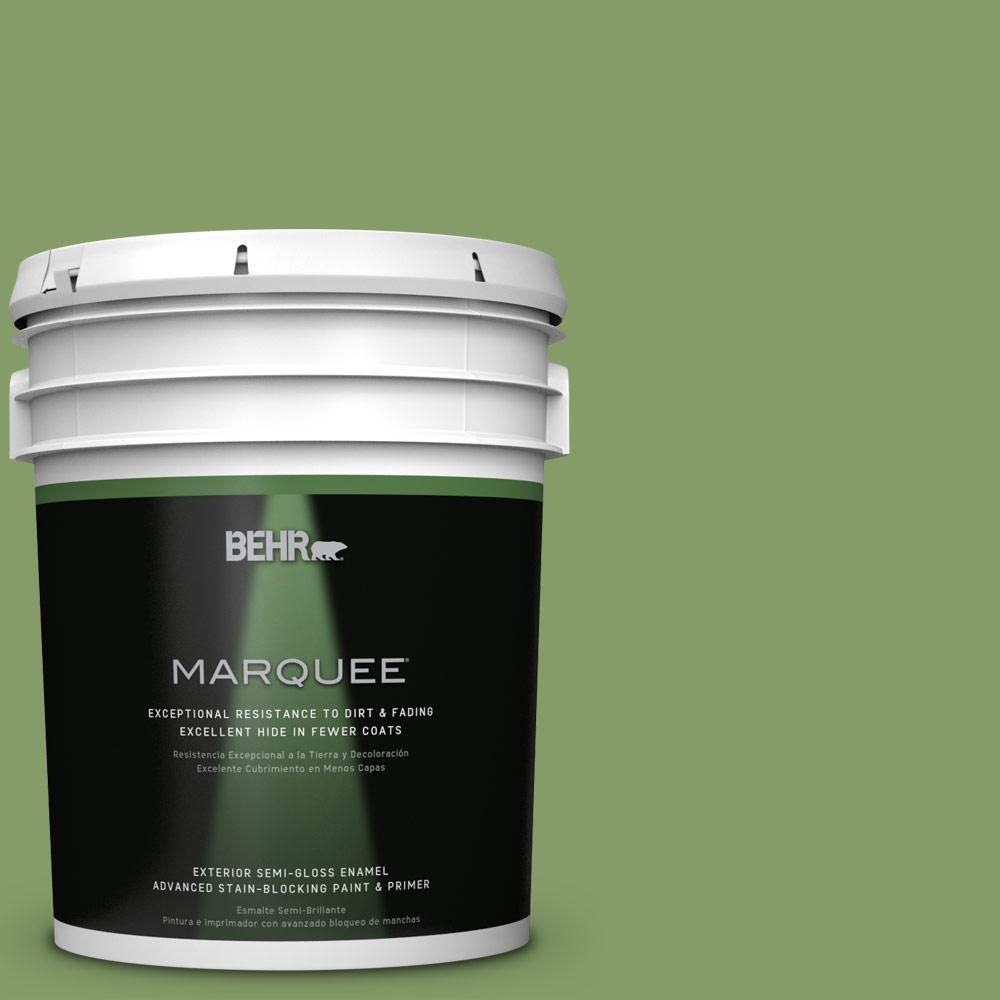 5-gal. #M370-5 Agave Plant Semi-Gloss Enamel Exterior Paint