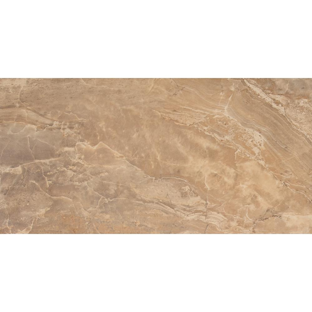 Msi Onyx Noche 12 In X 24 Glazed Porcelain Floor And Wall Tile