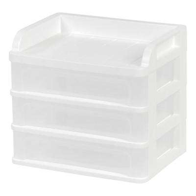 9.13 in. x 8.13 in. Small White Desktop Drawer System (4-Pack)