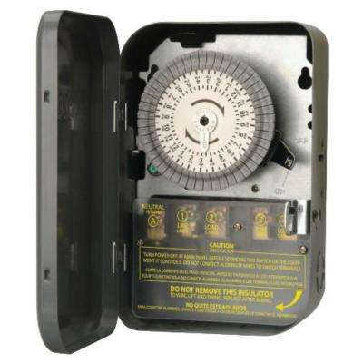 Indoor 120-Volt 40-Amp 24-Hour DPST Mechanical Time Switch with Metal Box