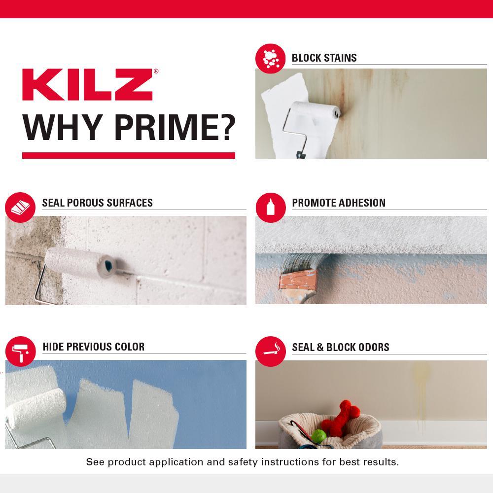 Kilz Original 13 Oz White Oil Based Interior Primer Spray Sealer And Stain Blocker 10044 The Home Depot