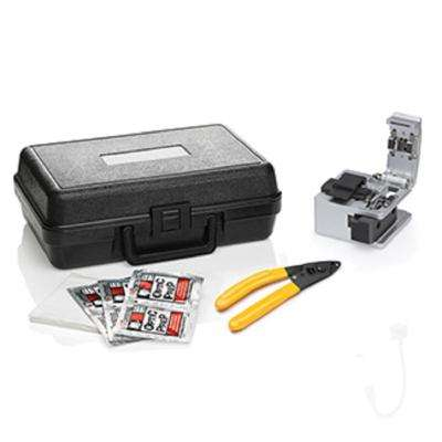 FastCAM Connector Opt-X Tool Kit: Opt-X Fiber Cleaver, Buffer Removal Tool, Lint-Free Wipes, Alcohol Moistened Wipes