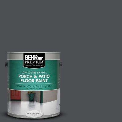 1 gal. #PPU18-1 Cracked Pepper Low-Lustre Porch and Patio Floor Paint