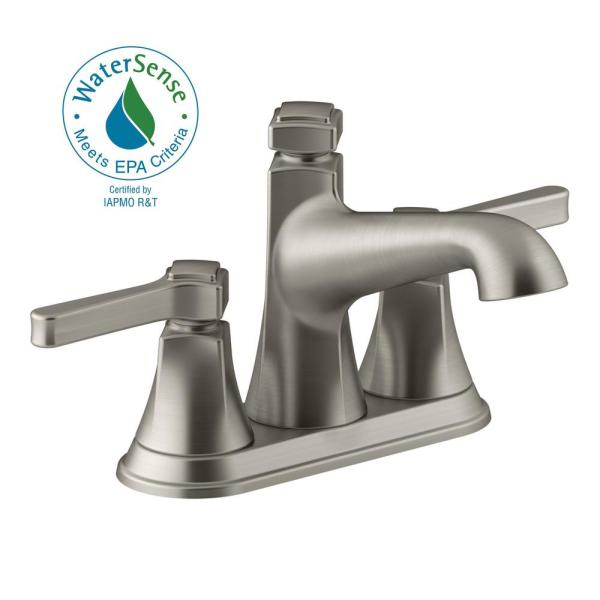 Kohler R99910-4D1-BN Vibrant Brushed Nickel Georgeson™ Two Handle Centerset Lavatory Faucet